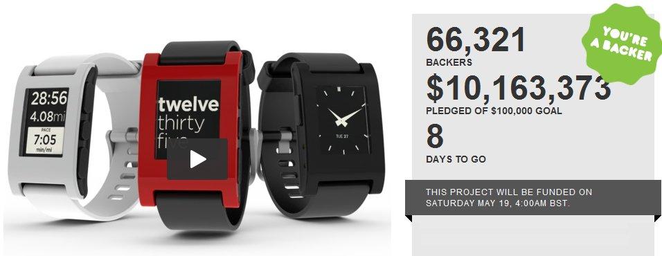 Pebble Watch for iPhone Passes $10M on Kickstarter