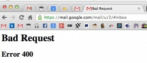 Solving Bad Request Errors on Google's Gmail