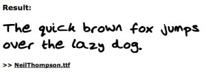 Font from Your Own Handwriting