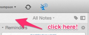 Quickly Get to Top of All Notes in Evernote