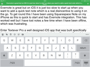 Textever Pro – a Quick and Beautiful Editor for Evernote on iOS