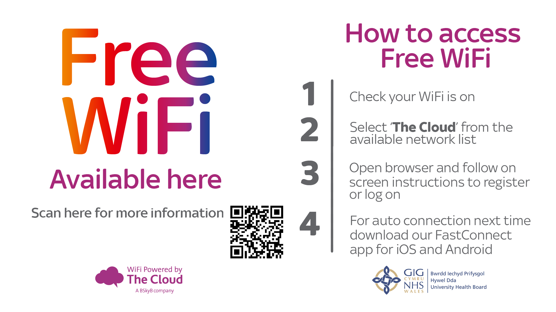 The Cloud Free WiFi splash